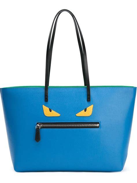 Fendi Tote Bag fendi bag bugs roll tote bag in blue lyst