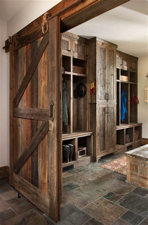 House Plans With Mudrooms by High Encampent On Big Mountain Eclectic Laundry Room