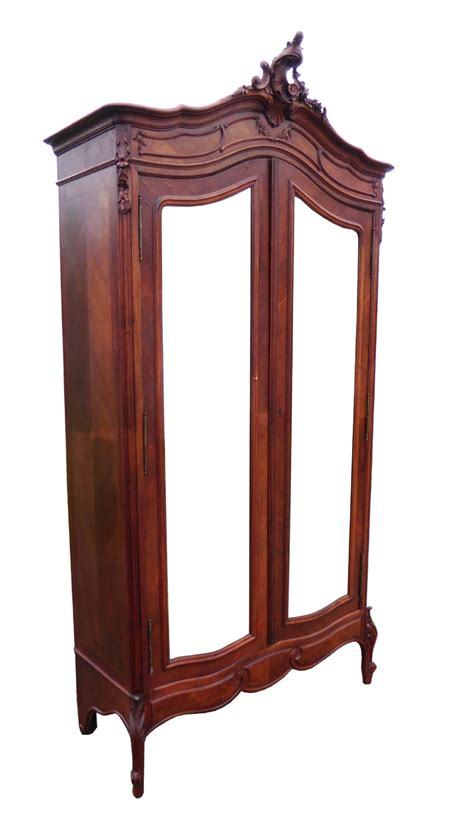 old armoire antique french walnut louis xv style rococo armoire