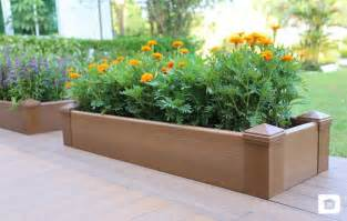 wood planter box composite decking newtechwood