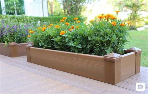 planter box wood planter box composite decking newtechwood ultrashield