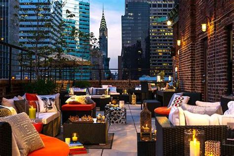 roof top bar manhattan rooftop terrace at renaissance new york hotel 57