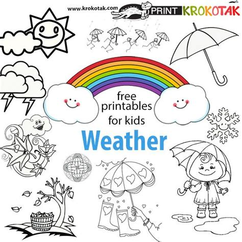 weather coloring page free 19 best weather kids crafts images on pinterest kids