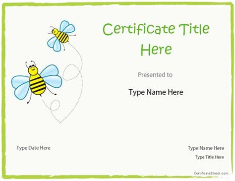 kid certificate templates free printable the world s catalog of ideas