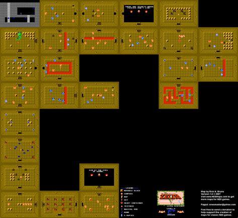 legend of zelda map nes nintendo cartes map et guide officiel legend of zelda
