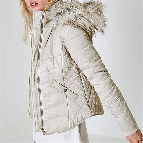 Quilted Faux Fur Trim Puffer by Quilted Faux Fur Trim Puffer Jacket Jackets