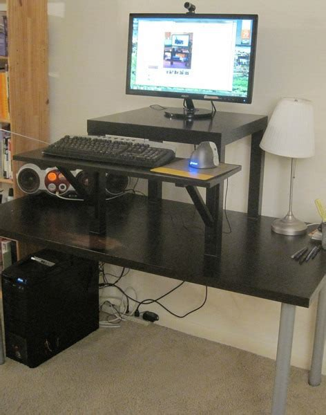 build your own stand up desk improvement how to build your own stand up desk