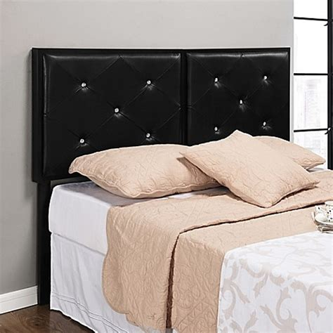 black tufted headboard with crystals buy k b furniture b8038 queen crystal tufted upholstered