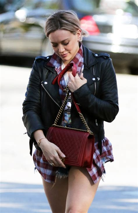 Other Designers Hilary Duff With Designer Travel Bags by Oversized Totes Shorts Are This Week S Musts