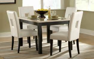 White Leather Dining Table Set » Home Design 2017