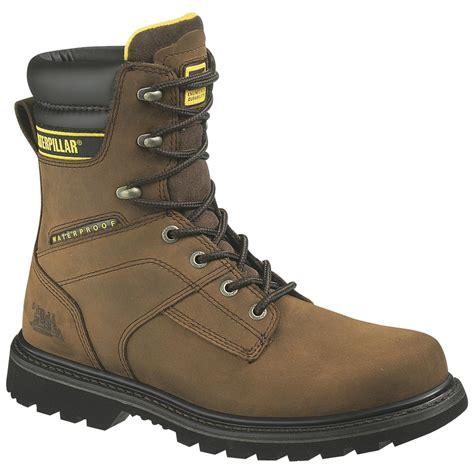caterpillar work boots for s caterpillar 174 salvo waterproof work boot brown