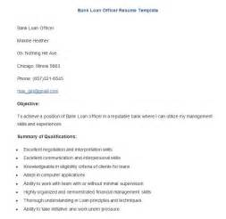 Resume Format For Bank Loan Banking Resume Template 21 Free Sles Exles