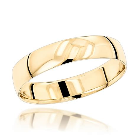 14k Gold Wedding Band by Classic Thin Mens Wedding Band 14k Solid Gold 4mm