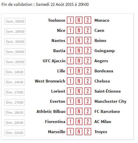 Grille Loto Foot Prix by Loto Foot De Winamax 12 Matchs Et 50 000 Par Grille