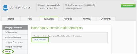 home equity line of credit heloc calculator support