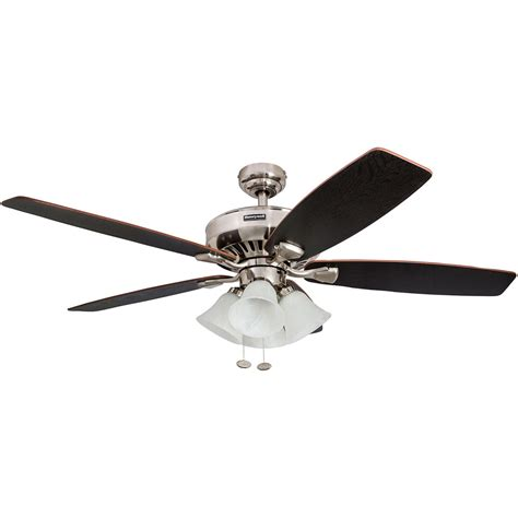 52 inch ceiling fan honeywell birnham ceiling fan brushed nickel finish 52