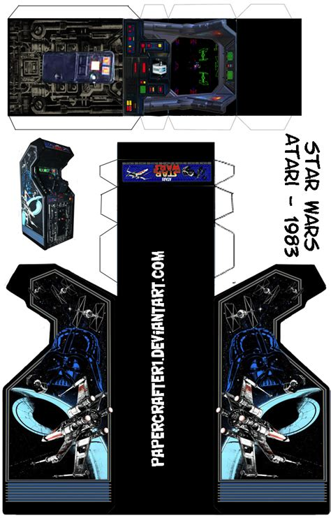 Wars Papercraft Templates by Wars Updated Papercraft Arcade Template By