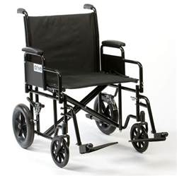 heavy duty bariatric steel transit wheelchair wide