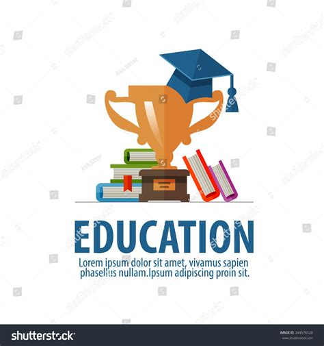 school logo design template education vector logo design template school or student