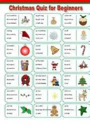 english teaching worksheets christmas quiz