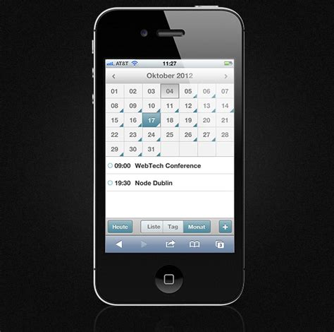german mobile code creating a mobile event calendar with dhtmlx