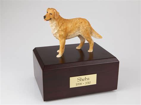 golden retriever urn golden retriever standing figurine pet urn