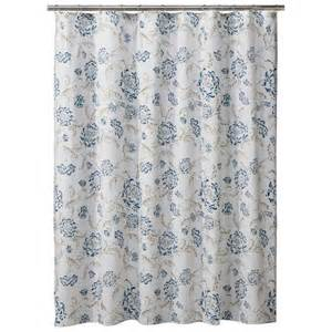 Threshold floral shower curtain blue green product details page