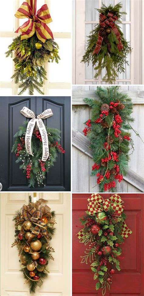 christmas swags for the door christmas decorating and