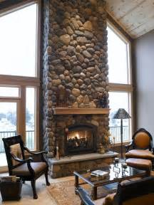 river rock fireplace mi casa pinterest rock fireplace makeover images