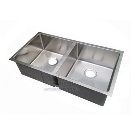 Square Sinks Kitchen Square Cube Corner Undermount Drop In Kitchen Sink Bowl 850x450x220