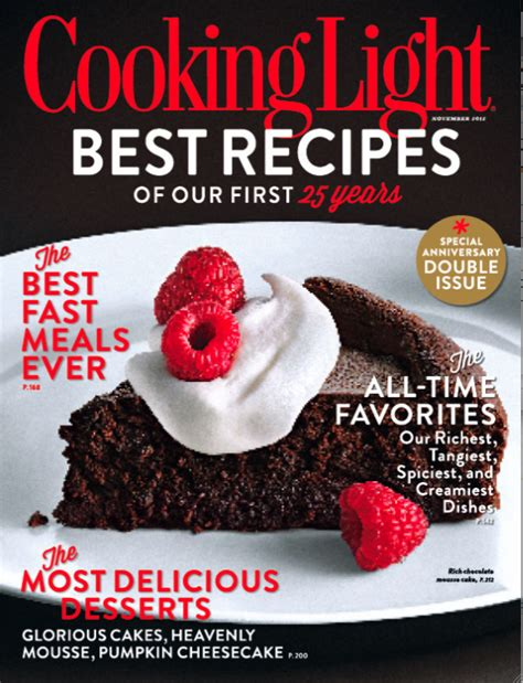 how to cancel cooking light magazine on the 25th anniversary of cooking light magazine editor