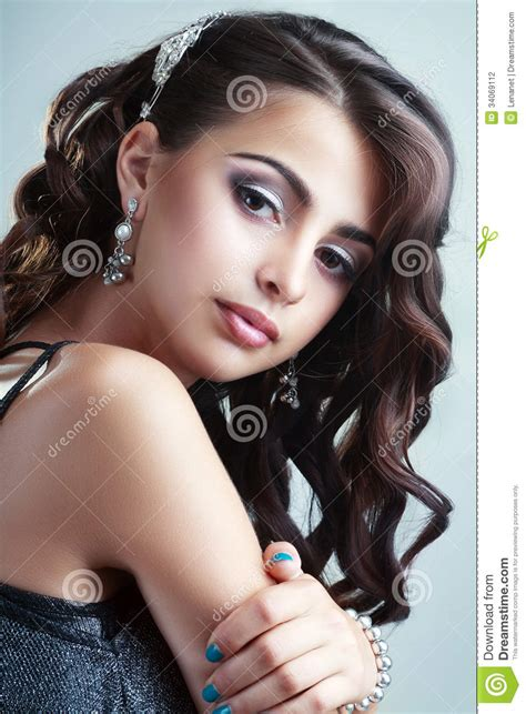 Hairstyle Photos Only Printer by Model Stock Photo Image Of Amazing Curly
