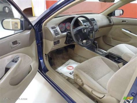 Honda Civic 2002 Interior by Beige Interior 2002 Honda Civic Ex Coupe Photo 40066911 Gtcarlot