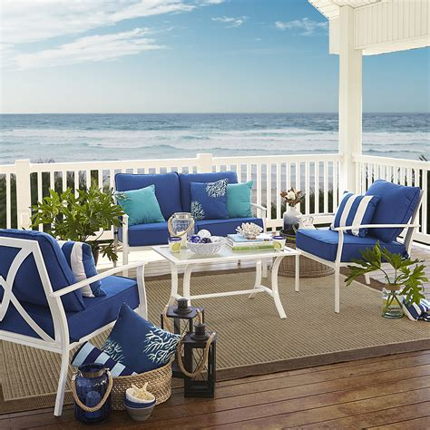 Garden Oasis Harrison by Garden Oasis Harrison 4 Cushion Seating Set Blue