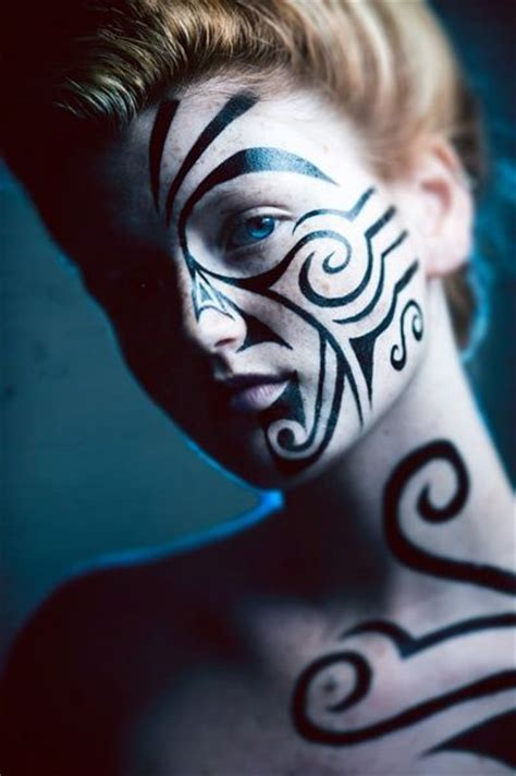 tribal pattern face paint tribal face painting tribal pinterest