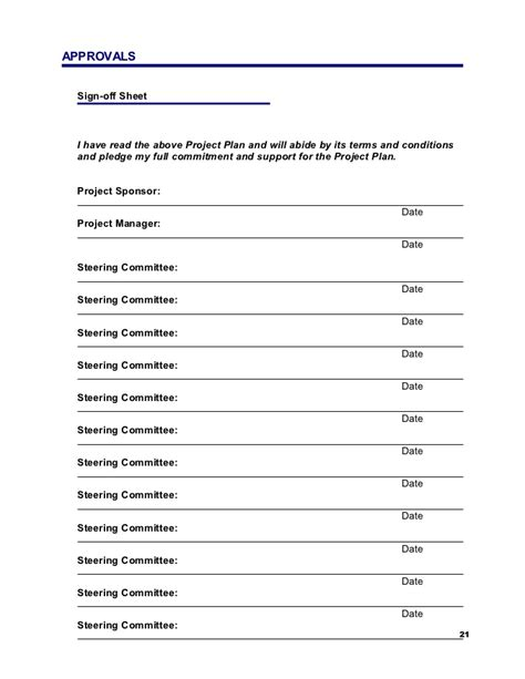 Sponsor Agreement Template sample project plan
