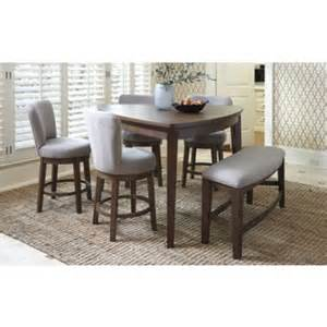 Triangle counter height dining table on tapered furniture legs wood