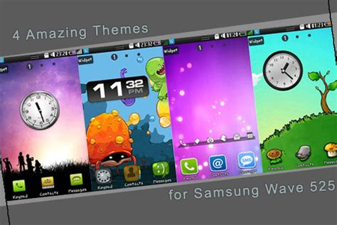 themes samsung wave 3 download my wave 525 4 amazing themes for samsung wave 525