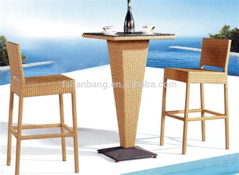Buy Outdoor Bar Stools by Hotsale Outdoor Resin Wicker Polyrattan Bar Table And