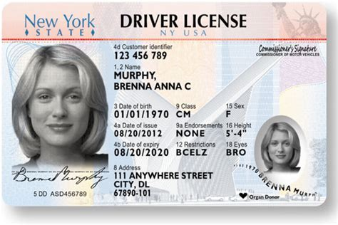 usa id card template new york state to introduce laser engraved driver s license