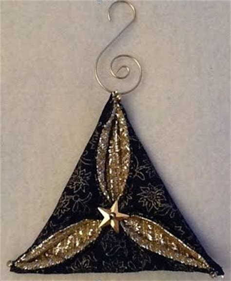 Folded Paper Ornament Pattern - quilted ornaments ornament tutorial and