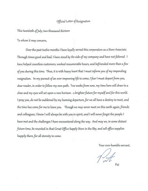 Resignation Letter Thank You Experience resignation letter format top best resignation letters
