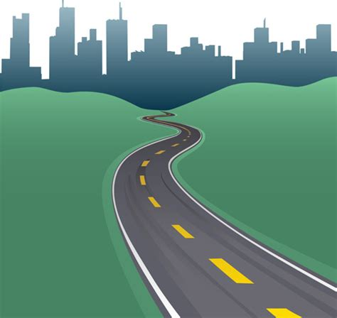 Graphic Design Hill Road | different road design vector free vector in encapsulated