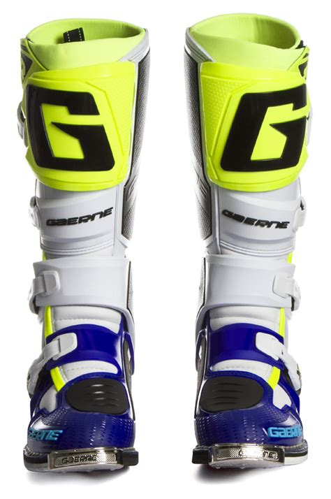 Gaerne Sg 11 White Yellow gaerne sg12 le boots blue white neon yellow sixstar racing