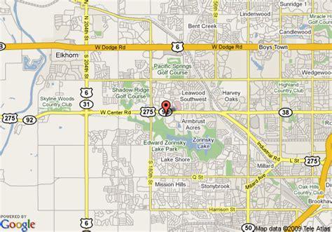 location map omaha ne map of holiday inn express hotel suites omaha west omaha