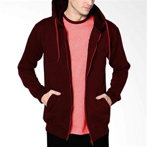 jual vm polos zipper merah maroon jaket hoodie pria harga kualitas terjamin