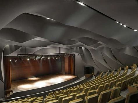 Theater Ceiling Design by Rippled Ceiling Theatres Masrah Al Qasba Theatre