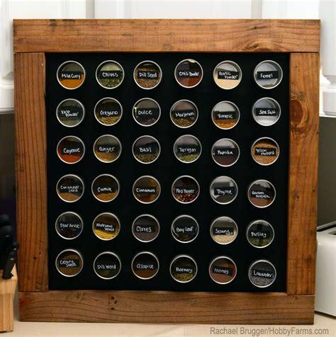 Make A Magnetic Spice Rack by Diy Framed Chalkboard Bonus Spice Rack Hobby Farms