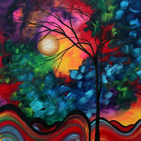 colorful painting abstract landscape bold colorful painting by megan duncanson