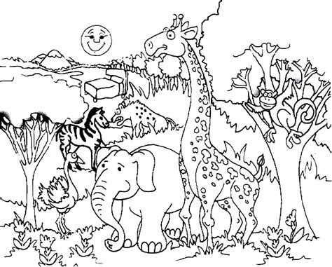 Rainforest Colouring Page Zoo Giraffe Coloring Pages Coloringsuite Com by Rainforest Colouring Page